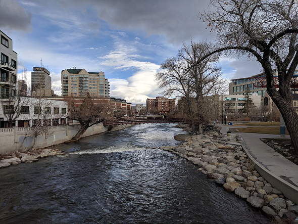 Truckee River through Reno, NV